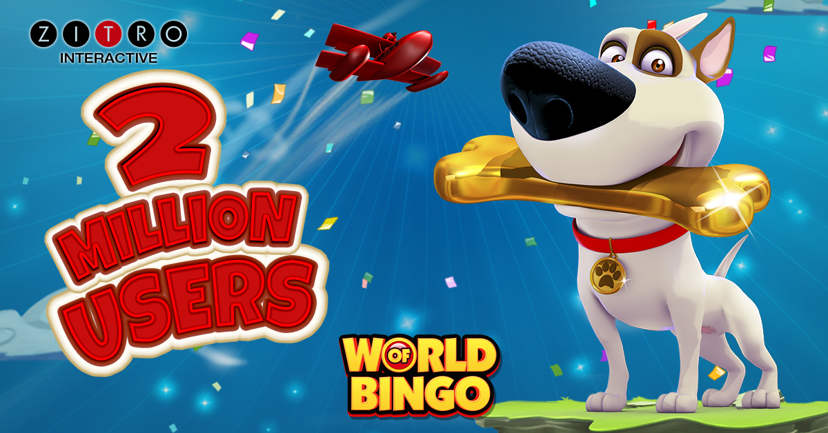 The social casino of Zitro, World of Bingo, surpasses the two million users