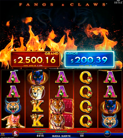 Video Slot - Multigame Standalone - Smart Spins - Fangs And Claws