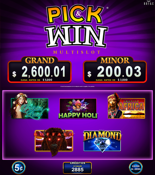 Video Slot - Multigame Standalone - Pick & Win III