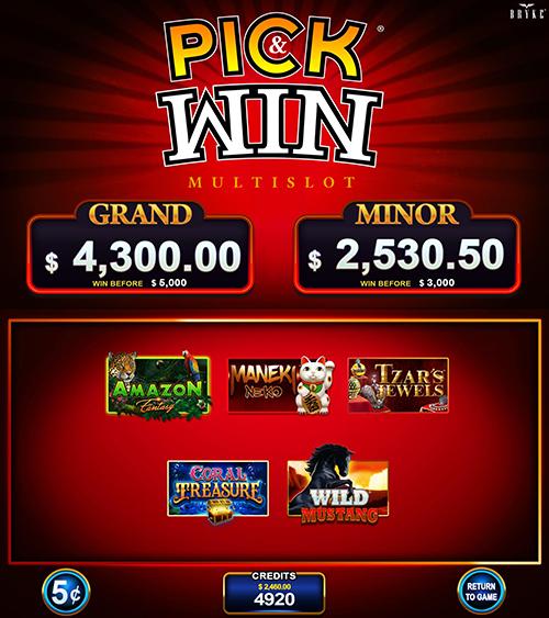 Video Slot - Multigame Standalone - Pick & Win II
