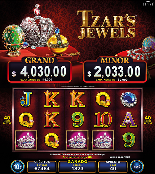 Video Slot - Multigame Standalone - Pick & Win - Tzars Jewels
