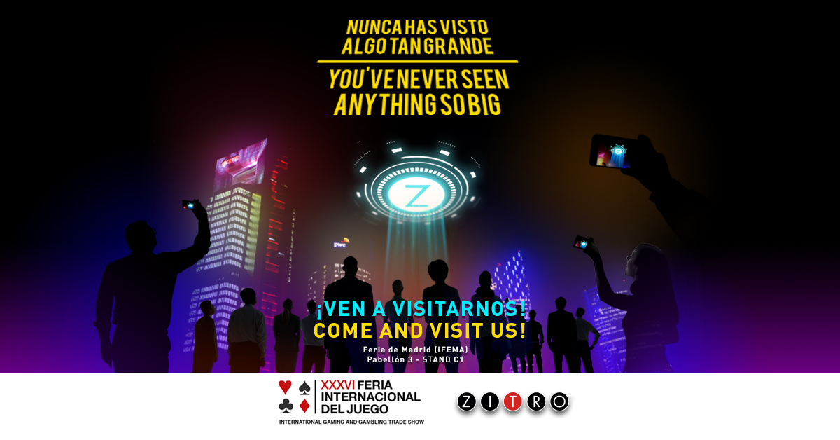Zitro takes the biggest thing never seen before to the International Gaming Show in Madrid