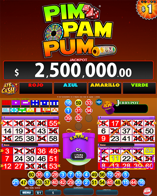 Video Bingo Pim Pam Pum