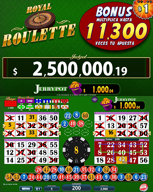 Video Bingo Royal Roulette