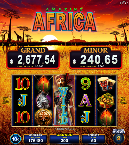 Video Slot - Multigame Standalone - Pick & Win - Amazing Africa