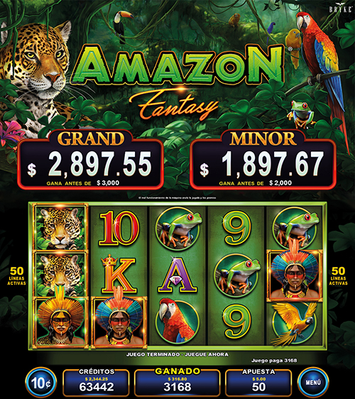 Video Slot - Multigame Standalone - Pick & Win - Amazon Fantasy