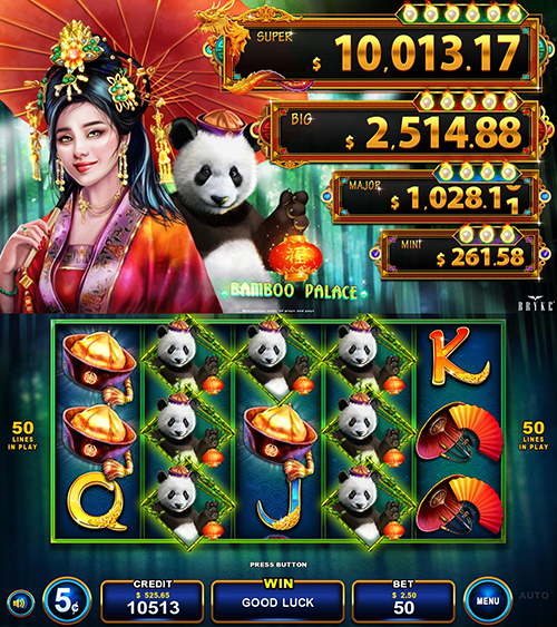 Video Slot - Multigame LAP - Blazing Pearls - Bamboo Palace
