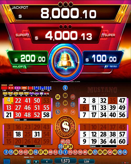 BingoLinkMustang_pantalla