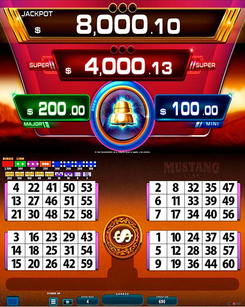 BingoLinkMustang_pantalla principal