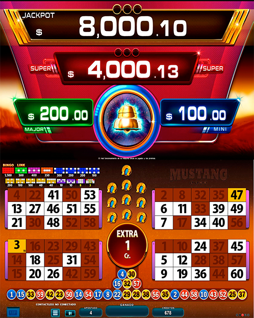 BingoLinkMustang_partida extra
