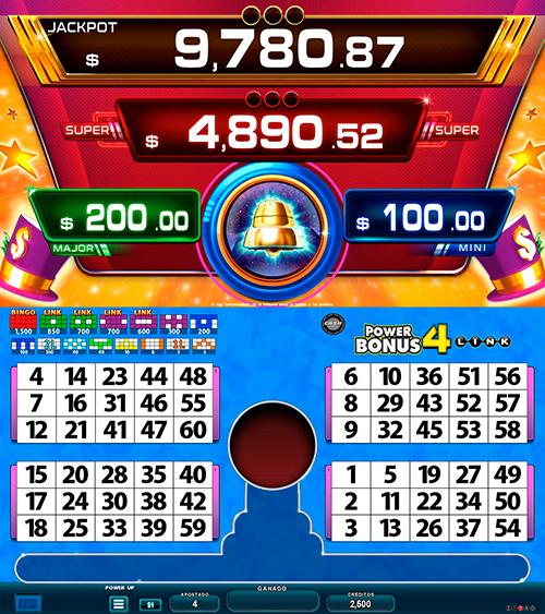 BingoLinkPower4Bonus_pantalla principal