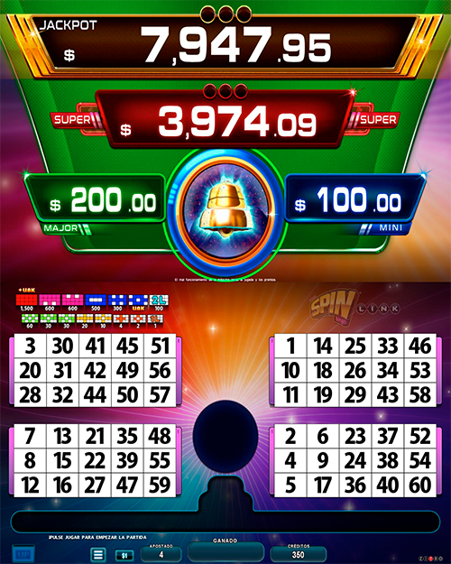 BingoLinkSpinBingo_pantalla principal