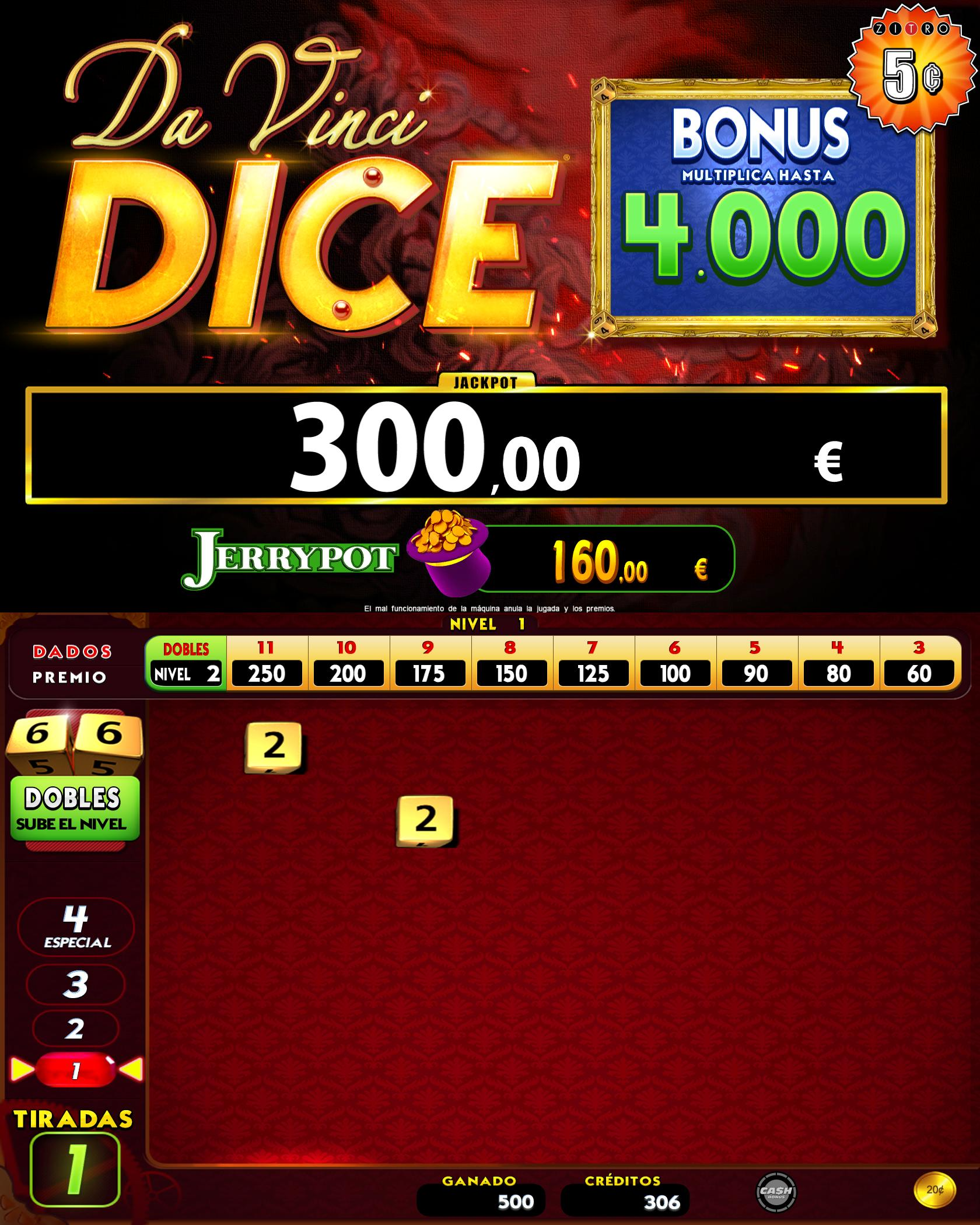 Davinci Dice screenshot - Zitro Games