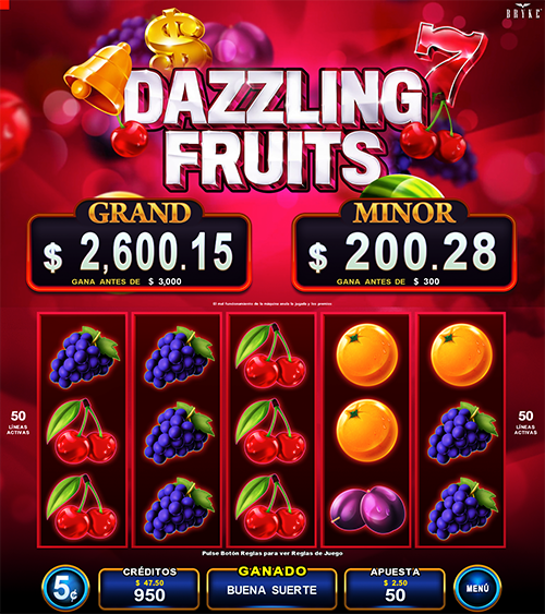Dazzling Fruits screenshot - Zitro Games