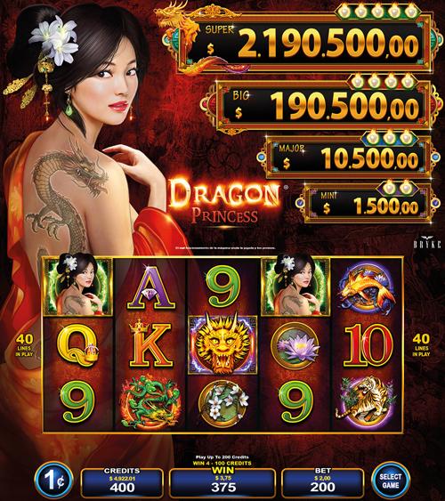 Video Slot - Multigame LAP - Blazing Pearls - Dragon Princess