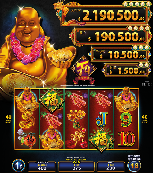 Video Slot - Multigame LAP - Blazing Pearls - Fu Charms