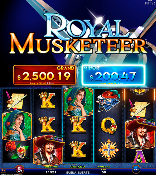 Zitro Games - Video Slot - Multigame Standalone - Royal Musketeer