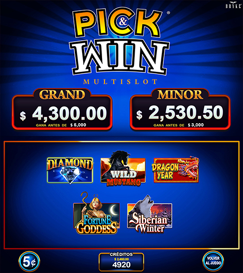 Video Slot - Multigame Standalone - Pick & Win I