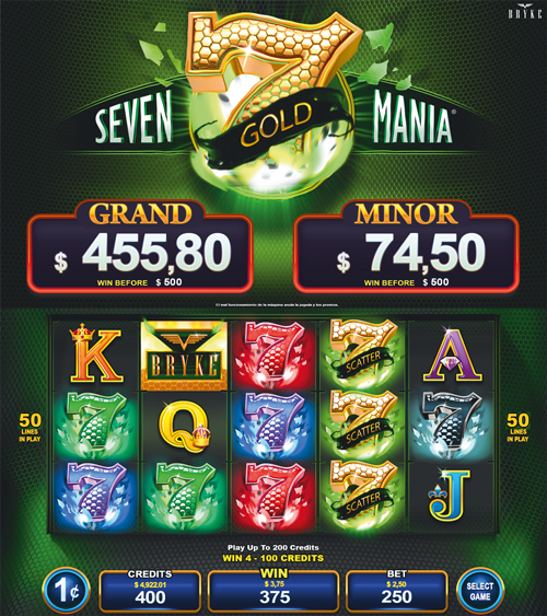 Video Slot - Multigame Standalone - Hot Deal - Seven Gold Mania