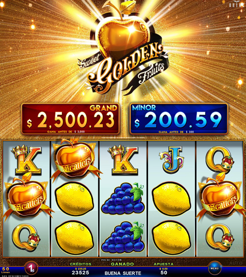 Zitro Games - Video Slot - Multigame Standalone - Sweet Golden Fruits