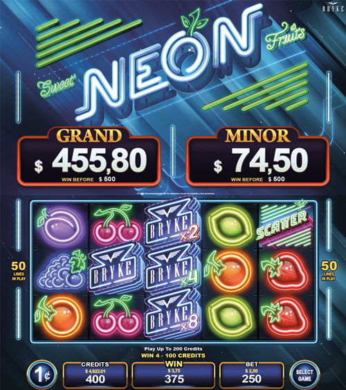 Video Slot - Multigame Standalone - Hot Deal - Sweet Neon Fruits