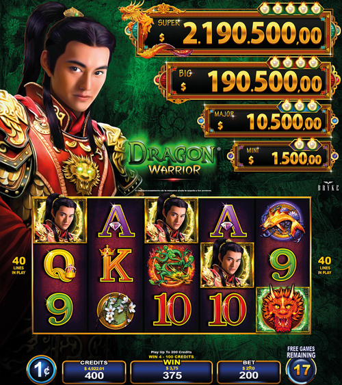 Video Slot - Multigame LAP - Blazing Pearls - Dragon Warrior