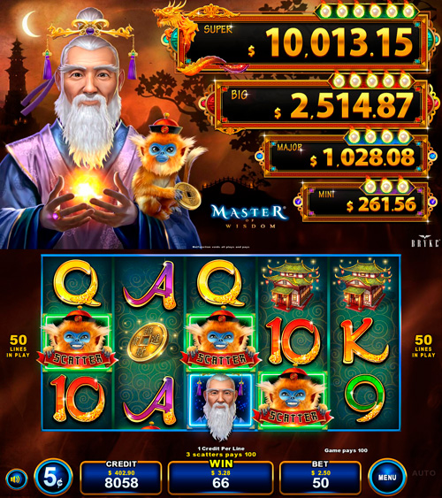 Video Slot - Multigame LAP - Blazing Pearls - Master Of Wisdom