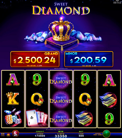 Zitro Games - Video Slot - Multigame Standalone - Sweet Diamond