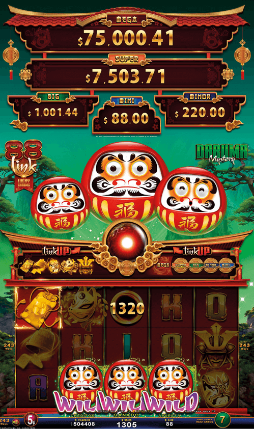 Video Slot - Multigame LAP with SynchroScreens - 88 Link Lucky Charms - Daruma Mystery