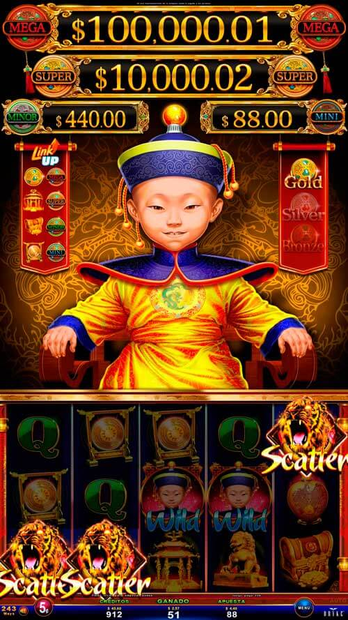 Video Slot - Multigame LAP with Panoramic Sign - Bashiba - Emperor