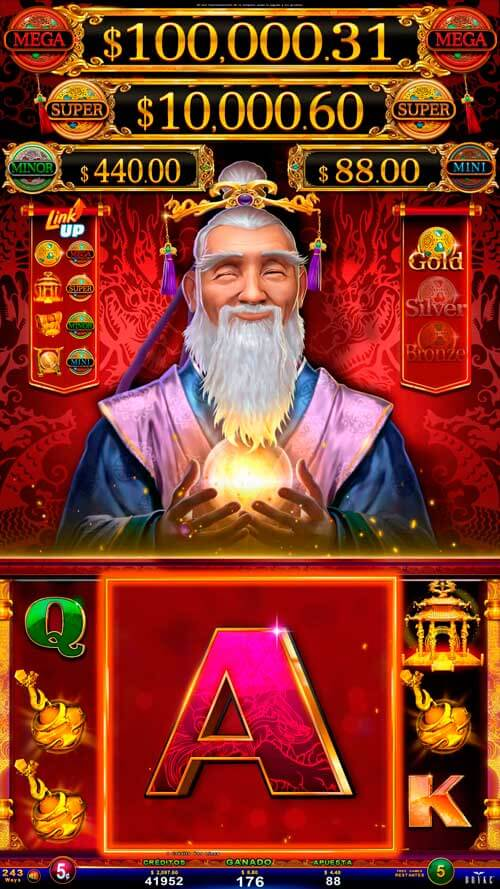 Video Slot - Multigame LAP with Panoramic Sign - Bashiba - Monk