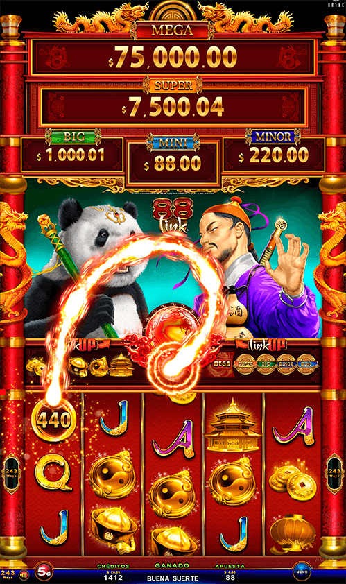 Video Slot - Multigame LAP with SynchroScreens - 88 Link Wild Duels - Panda VS Master Wu