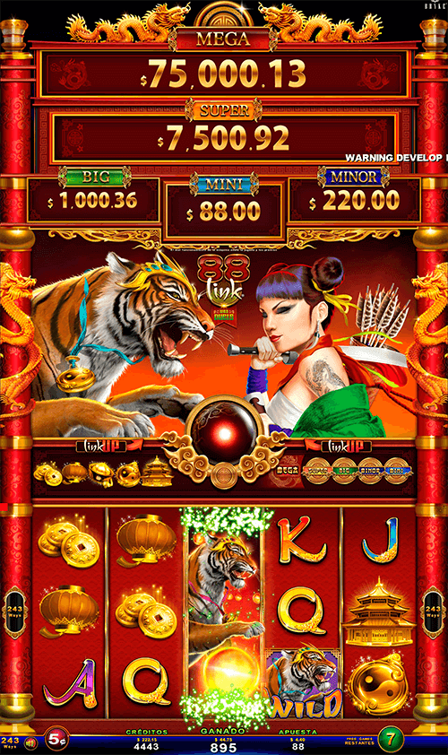 Video Slot - Multigame LAP with SynchroScreens - 88 Link Wild Duels - Tiger VS Lady Blade