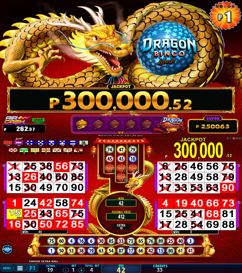Video Bingo - Dragon Bingo Lamp