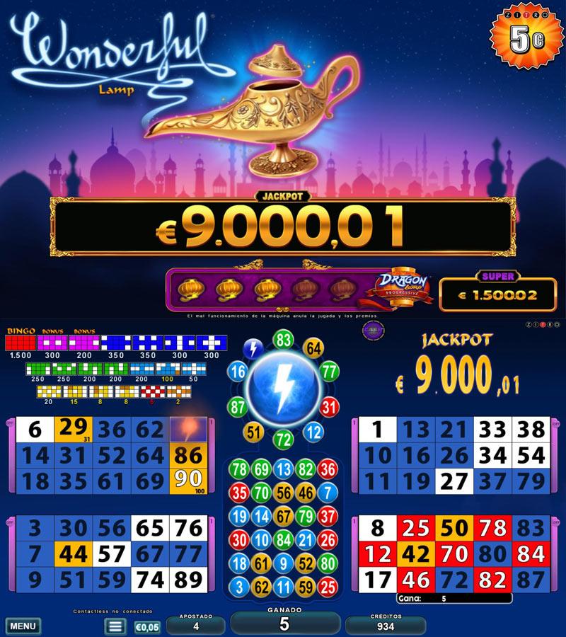 Video Bingo - Wonderful Lamp