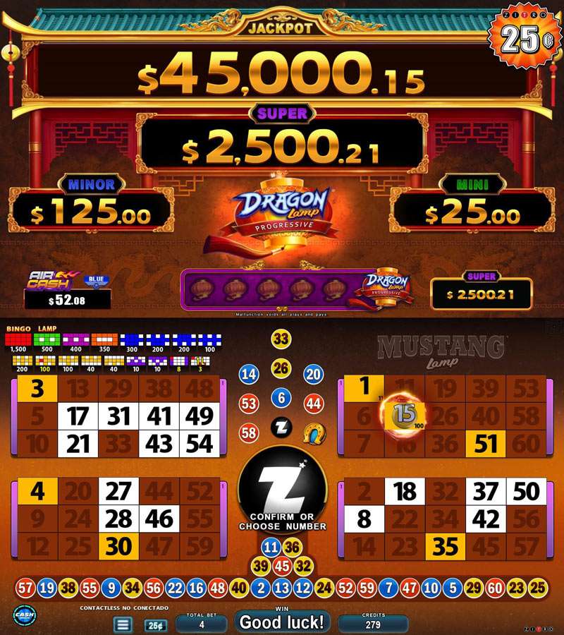 Video Bingo - Mustang Lamp